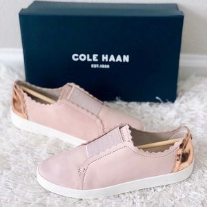 ✨New COLE HAAN Spectator Scallop Leather Sneakers